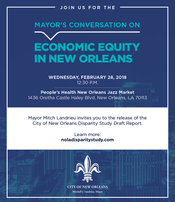Mayor S Conversation On Economic Equity In New Orleans